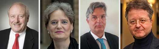 v.l.n.r.: Konrad Adenauer, Susanne Laugwitz-Aulbach, Rolf Landau, Eckart Schwab