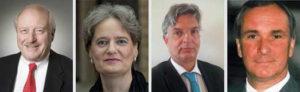 v.l.n.r.: Konrad Adenauer, Susanne Laugwitz-Aulbach, Rolf Landau, Burkhard von der Mühlen